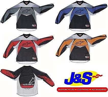ALPINESTARS KIDS RACER MX JERSEY MOTOCROSS CHILDRENS TOP MOTORBIKE MOTORCYCLE OFF ROAD JUNIOR J/&S KIDS SMALL, BLACK//GREY