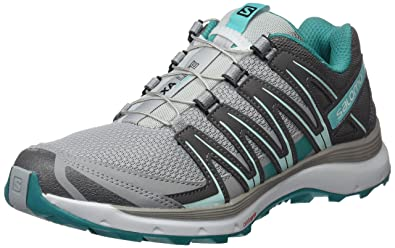Salomon Xa Lite Damen Traillaufschuhe, Quarry/Quiet Shade/Deep Peacock Blue, 42 EU