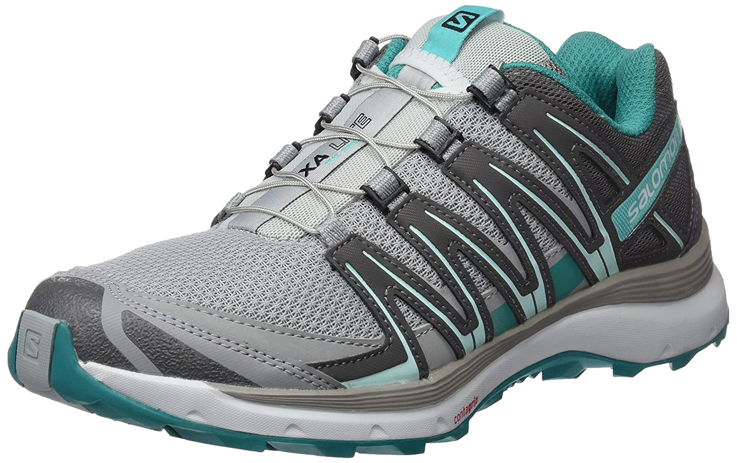 Salomon XA Lite, Calzado de Trail Running para Mujer 43 1/3 EU|Gris (Quarry/Quiet Shade/Deep Peacock Blue)