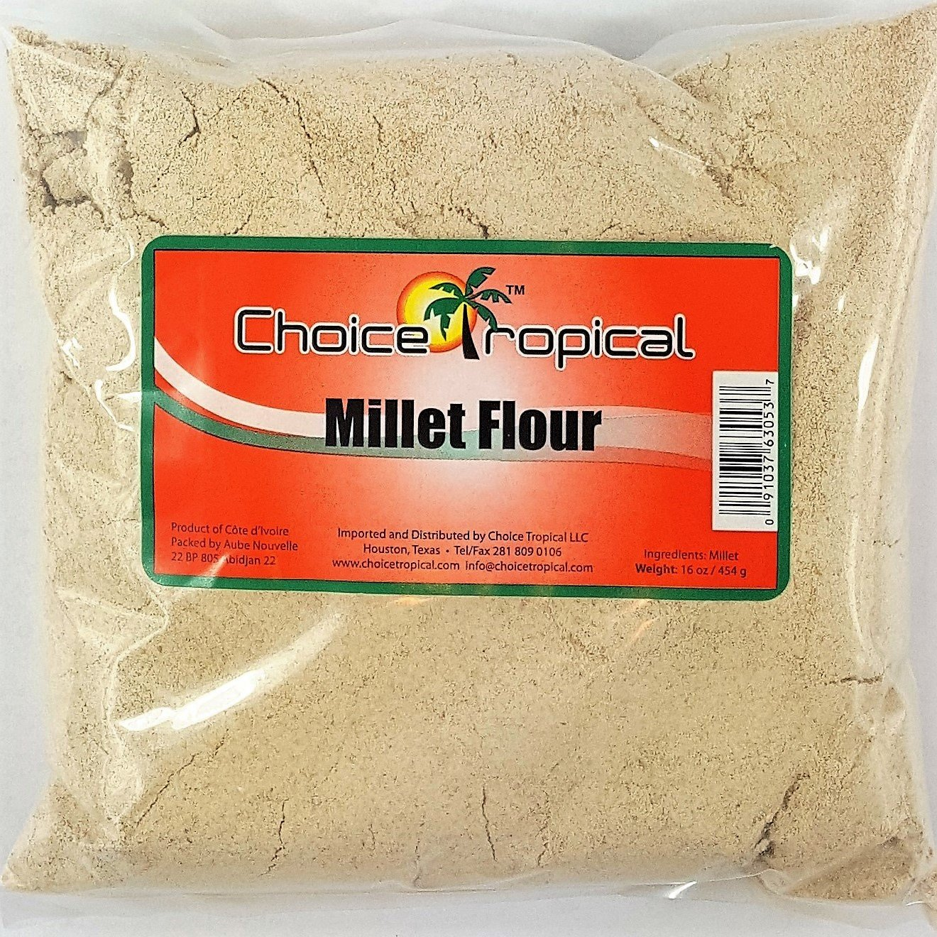 Millet Flour - Choice Tropical Millet Flour 16oz/454g (Pack of 2)