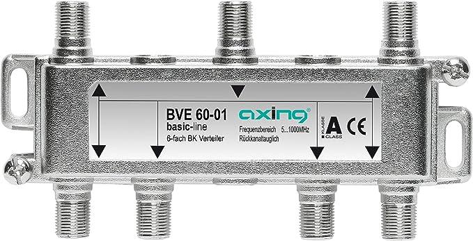 Axing BVE 60-01 - Distribuidor de antena (6 salidas, 5-1000 MHz) (importado)