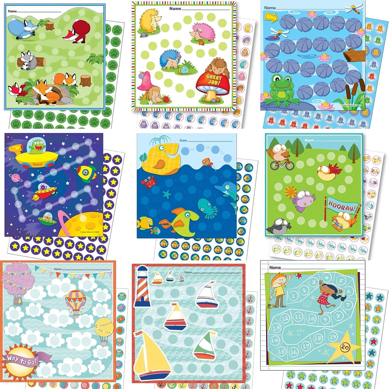By Diana Belohnungssystem für Kinder Auswahl verschiedener Pakete jeweils 12x13cm aus Papier (Sie kaufen 3 Sets die Wir zusammenstellen)