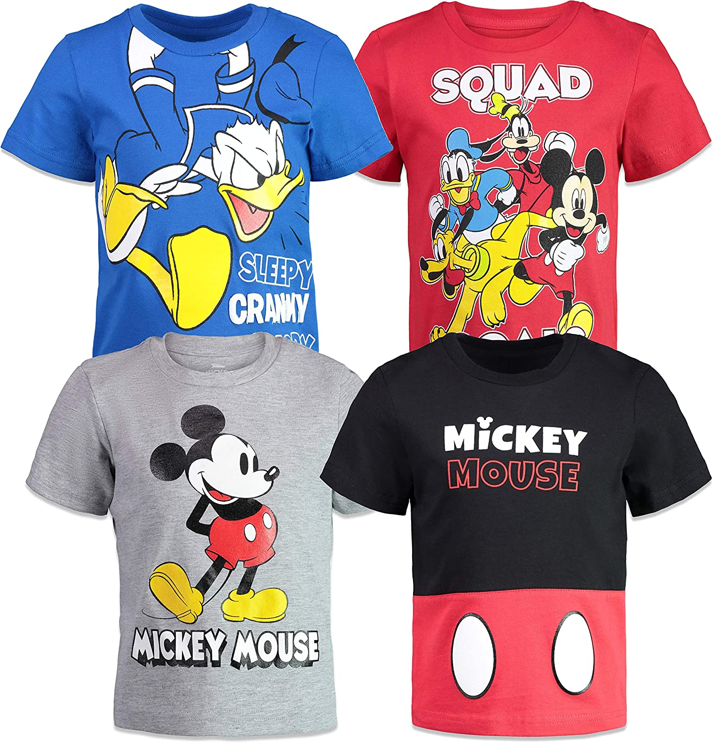 Spotted Zebra Boys Toddler /& Kids Mickey Mouse 4-Pack Short-Sleeve T-Shirts Brand