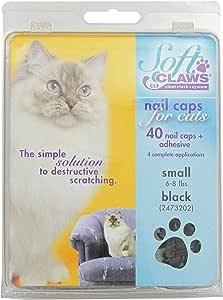 Feline Soft Claws Cat Nail Caps Take-Home Kit, Small, Black