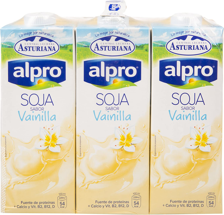 Alpro Central Lechera Asturiana Bebida de Soja Sabor Vainilla ...