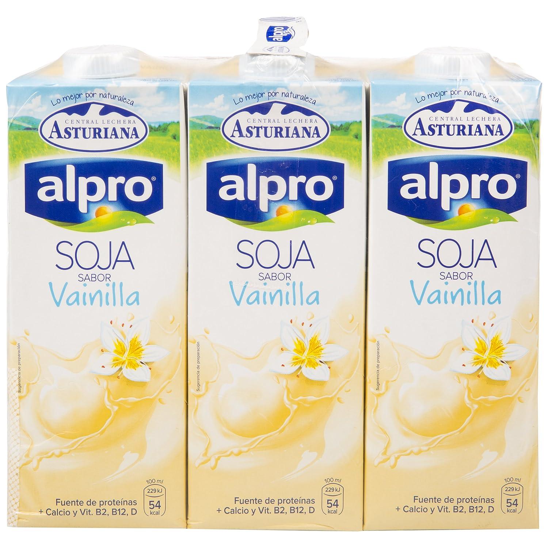 Alpro Central Lechera Asturiana Bebida de Soja Sabor Vainilla - Paquete de 6 x 1000 ml - Total: 6000 ml: Amazon.es: Alimentación y bebidas