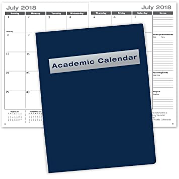 Amazon Com Academic Calendar 13 Months July   Saddle S Ched Dated For 2018 2019 Academic Year Office Products