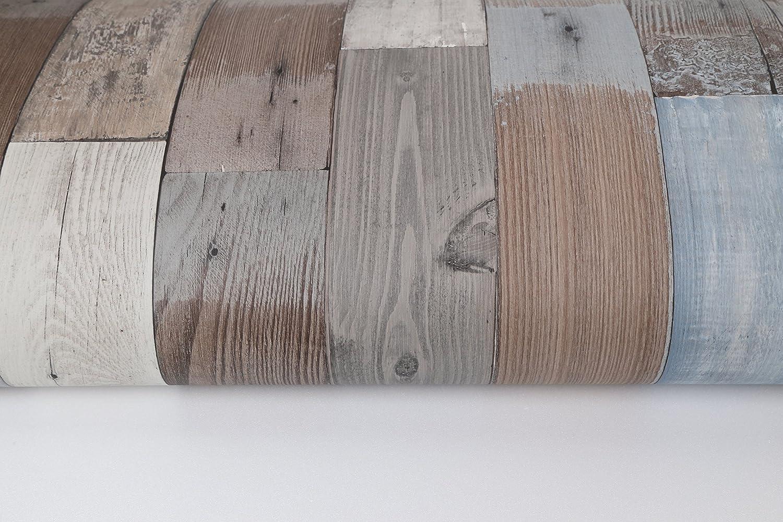 Papel tapiz de madera autoadhesivo para paneles de muros y adhesivos Papel tapiz de 50CM x 15M 0.15 mm Revestimiento PVC impermeable para cajones Extra/íble 19.6X 590 hierba vintage