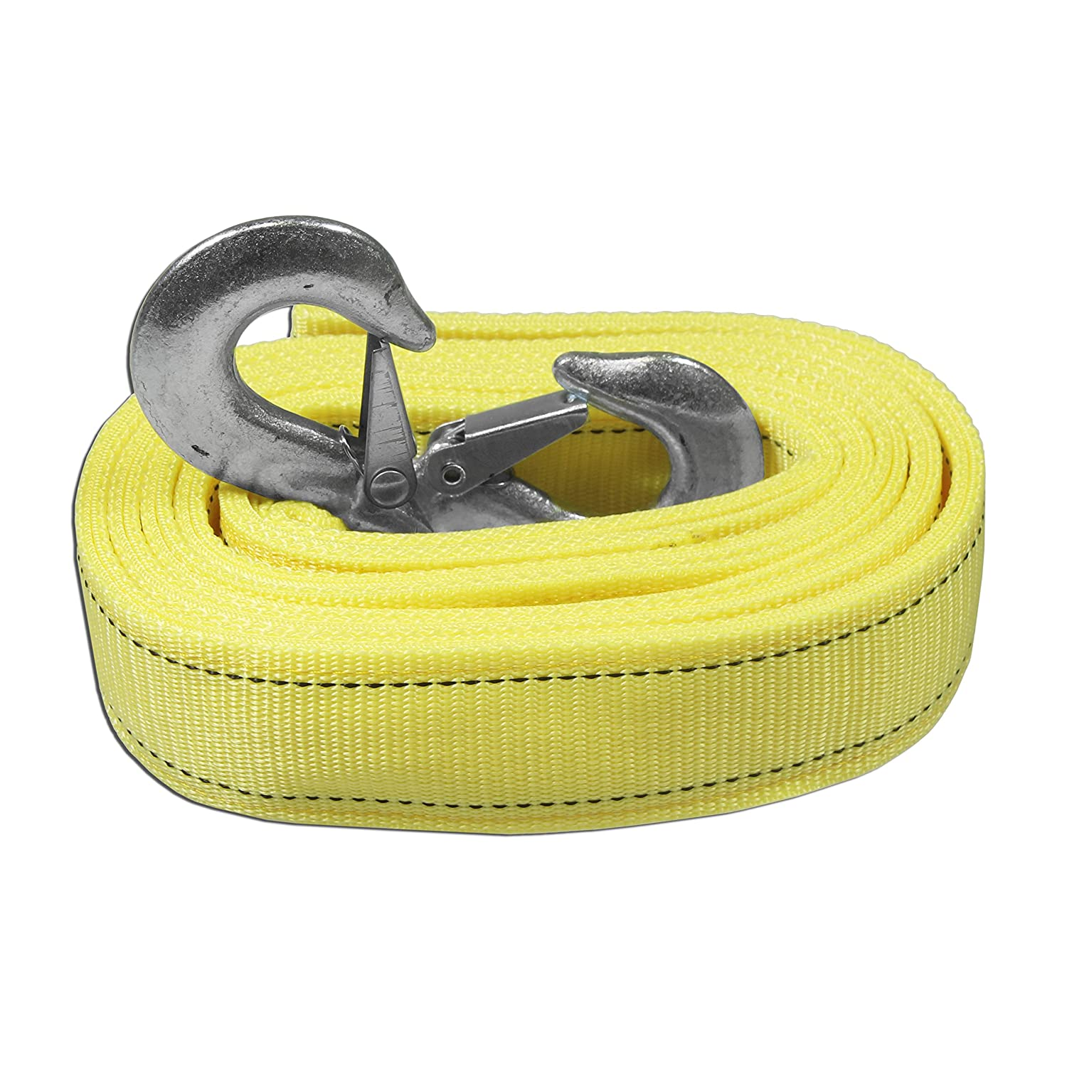 AA Products Heavy Duty 11, 000lbs Tow Straps 2 Safety J Hooks - Length (2' X 13 ft) 000lbs Tow Straps 2 Safety J Hooks - Length (2 X 13 ft) AA-Racks