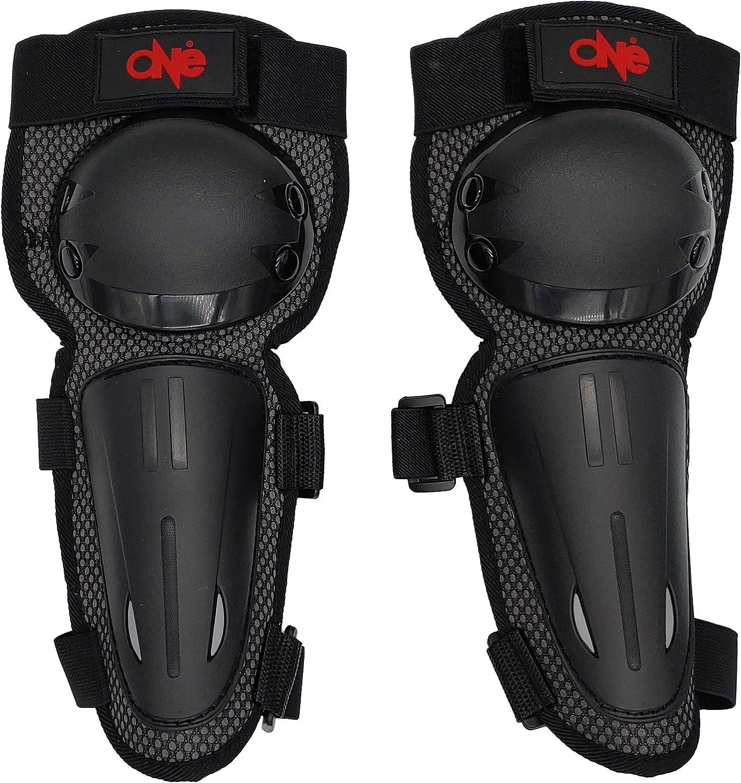 coudi/ères noires pour motocross enduro motard v/élo DOWNHILL//MOTO//SKATEBOARD//moto cross v/élo ONE BY CAMAMOTO Paire de genouill/ères