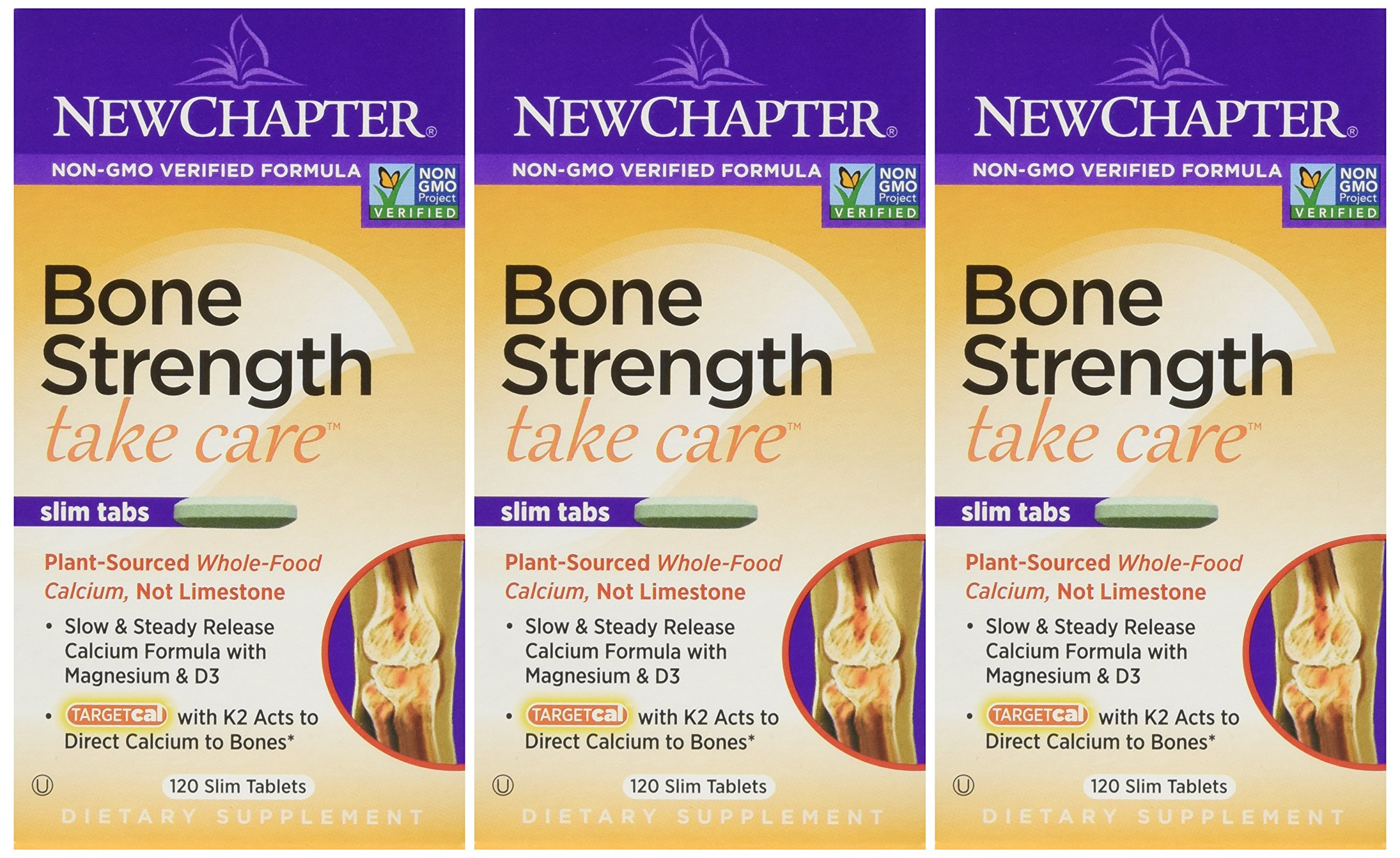 New Chapter - Bone Strength Take Care 120 Tabs Pack Of 3