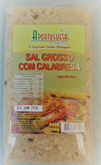 A Portuguesa - Seasoning for BBQ - Calabresa - 17.63oz (PACK OF 04)