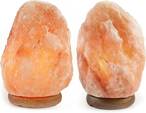Crystal Allies Gallery: CA SLS-M-2pc Pack of 2 Natural Himalayan Salt Lamp w/Dimmable Switch
