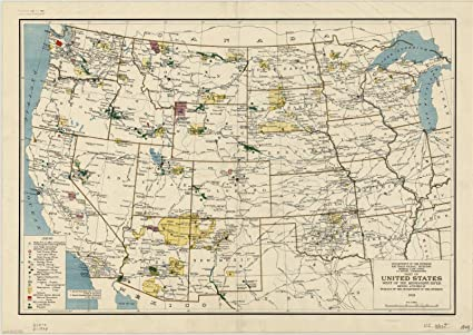 Amazon.com: Historic Map | United States 1929 | Part of ...