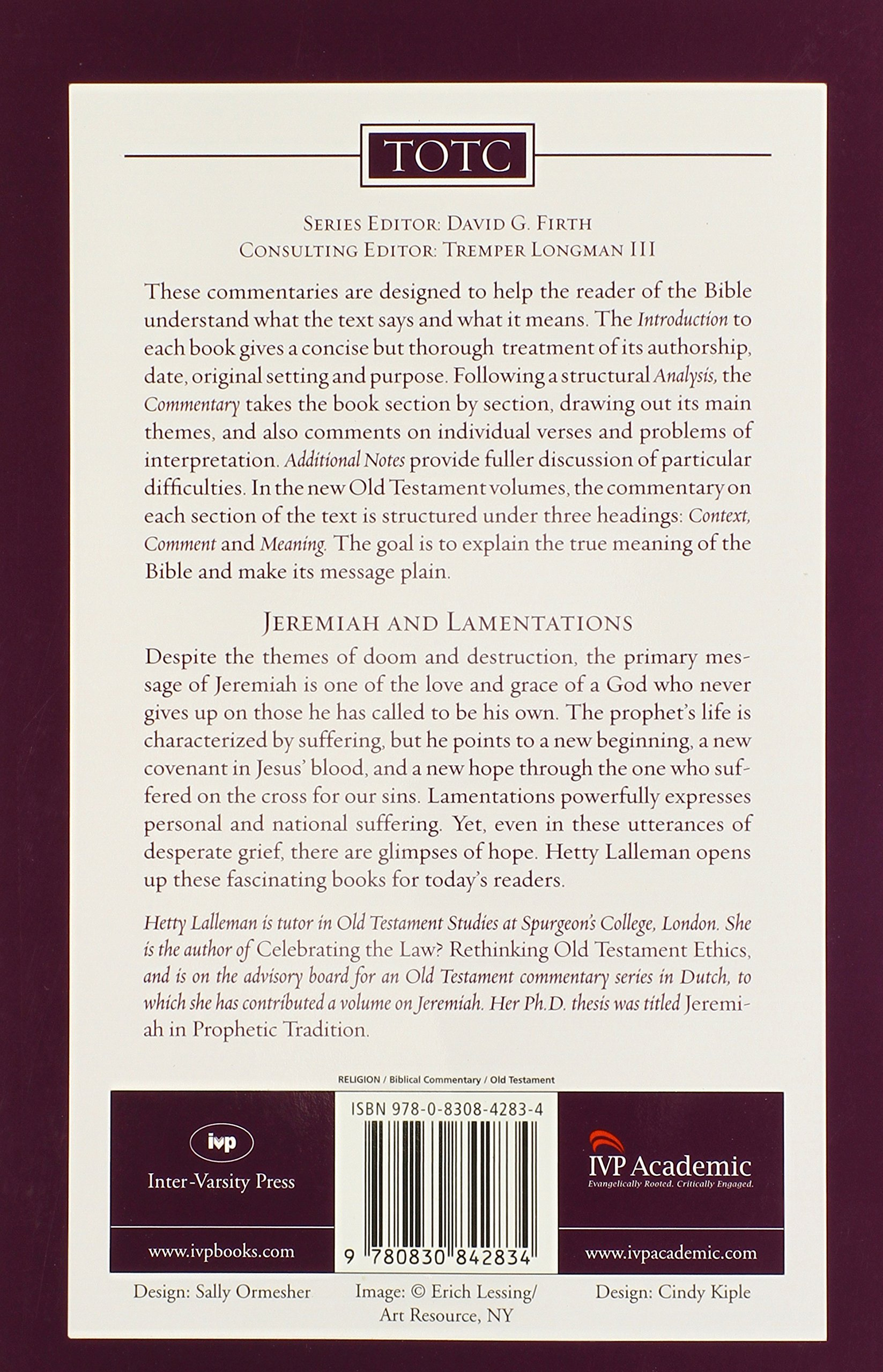 Jeremiah and lamentations tyndale old testament commentaries hetty lalleman 9780830842834 amazon com books