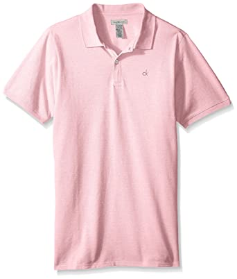 Calvin Klein Varones Manga Corta Camisa Polo - Rosado - Large / 10 ...
