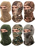6 Pieces Balaclava Face Mask Motorcycle Windproof Camouflage Fishing Face Cover Winter Ski Mask (Mixed Green, Yellow…