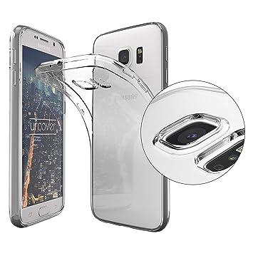 Urcover Funda compatible con Samsung Galaxy S6 Carcasa Protectora trasero Protector de Cámara Cover silicona ultra-delgada suave Back Case - Negro ...