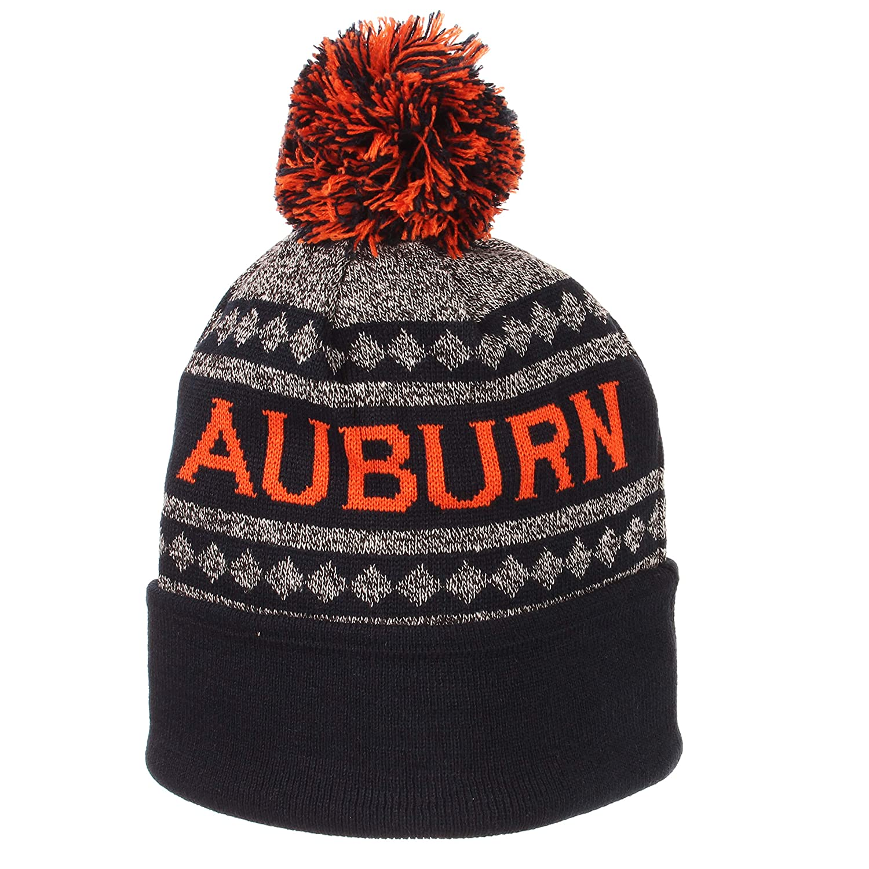 bc6bf94467fd7 Amazon.com : Auburn Tigers Official NCAA Mogul Cuffed Pom Knit Beanie Sock  Hat by Zephyr : Sports & Outdoors
