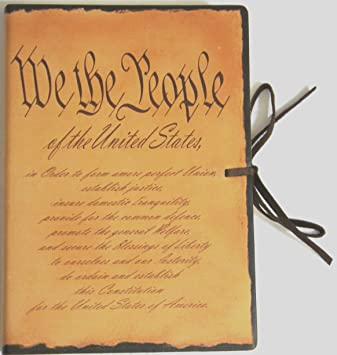 Amazon.com: US Constitution Preamble Printed Italian Leather ...