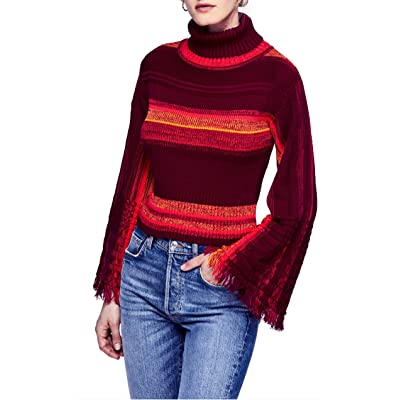 Free People Womens Striped Cropped Sweater at Women's Clothing store
