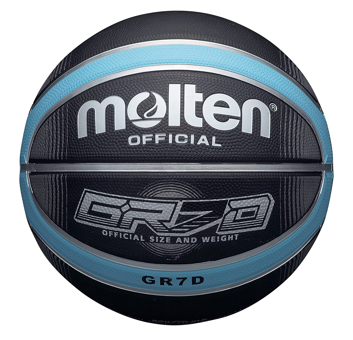 Molten Deep Channel Basketball Schwarz/Blau 7