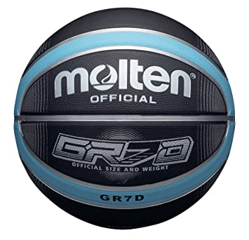 Molten BGRX Deep Channel - Pelota de baloncesto, color negro/azul ...