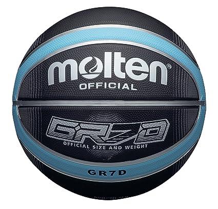 Molten BGRX Deep Channel - Pelota de baloncesto, color negro/azul ...