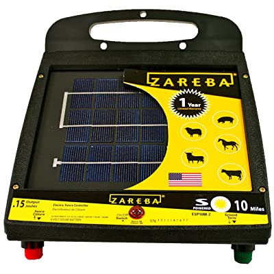 front facing zareba esp10m-z solar electric fence charger