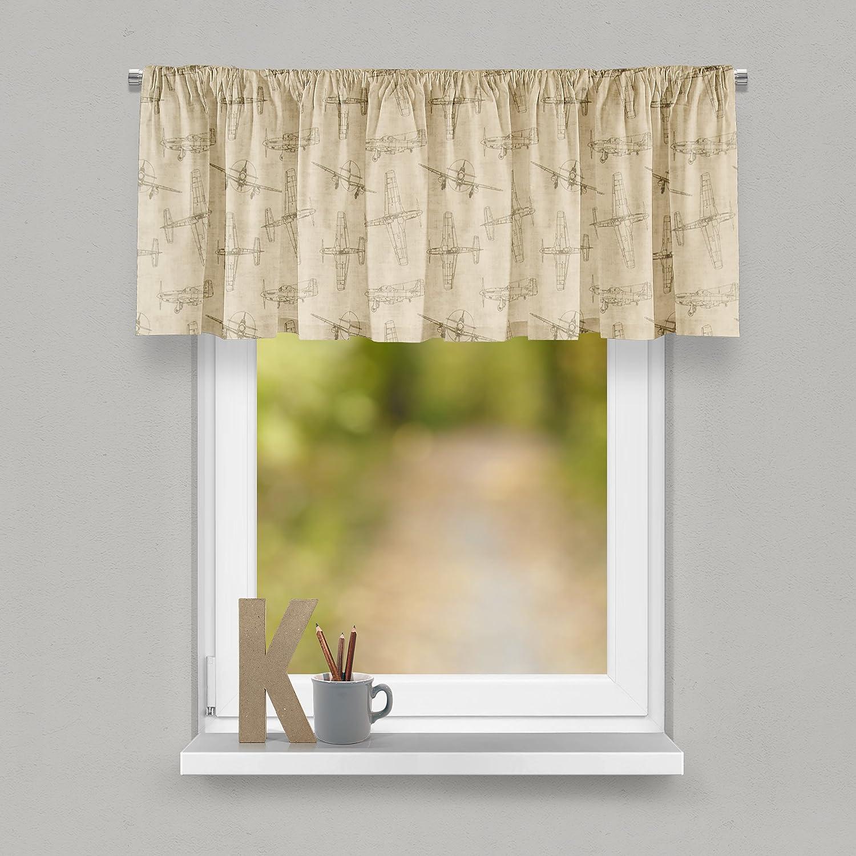 Glenna Jean Airplanes Curtain Valance 70W x18H for Kids Window