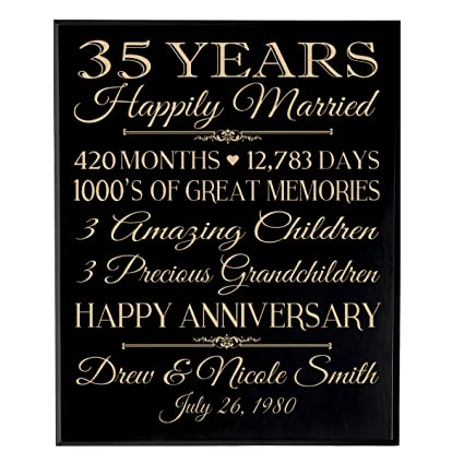 db3c8e2d3b5b Image Unavailable. Image not available for. Color  LifeSong Milestones  Personalized 35th for him her Couple Parents ...