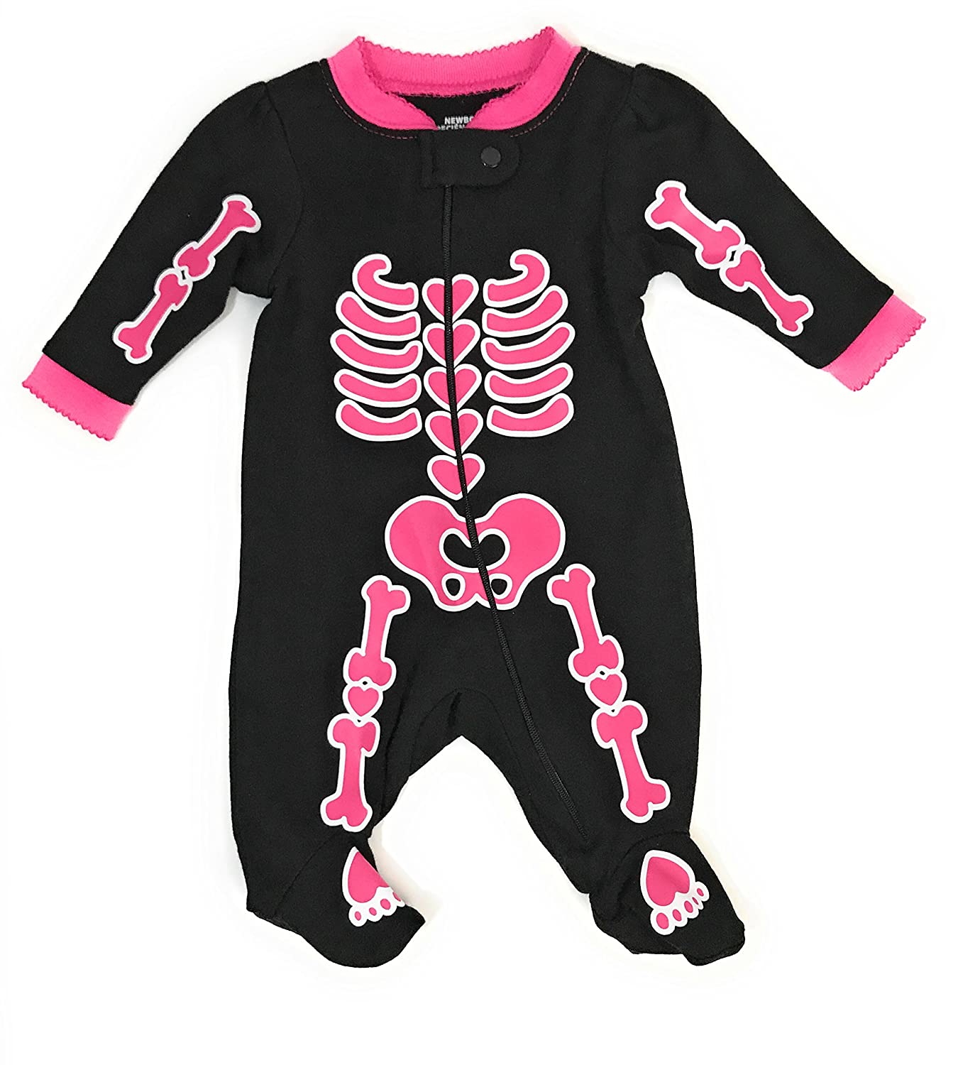 Assorted Policeman, Pumpkin, Cat, Ghost, Skeleton Baby Boys & Girls Halloween Footed Sleeper