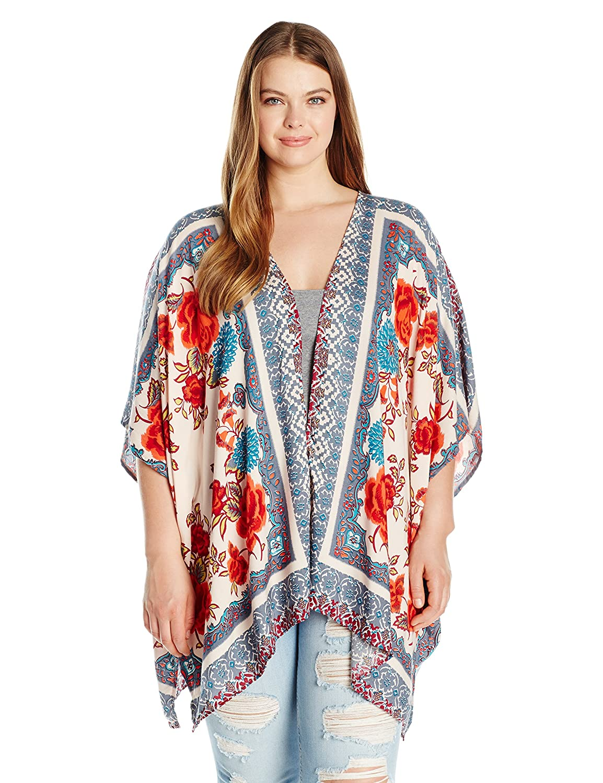 Angie Women's Plus Size Printed Kimono Angie Juniors P9M54-NC41