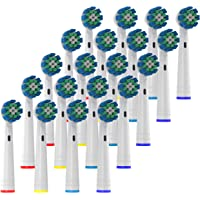Oliver James Replacement Toothbrush Heads, 20 Pack Brush Heads Compatible with all Oral B Electric Toothbrushes