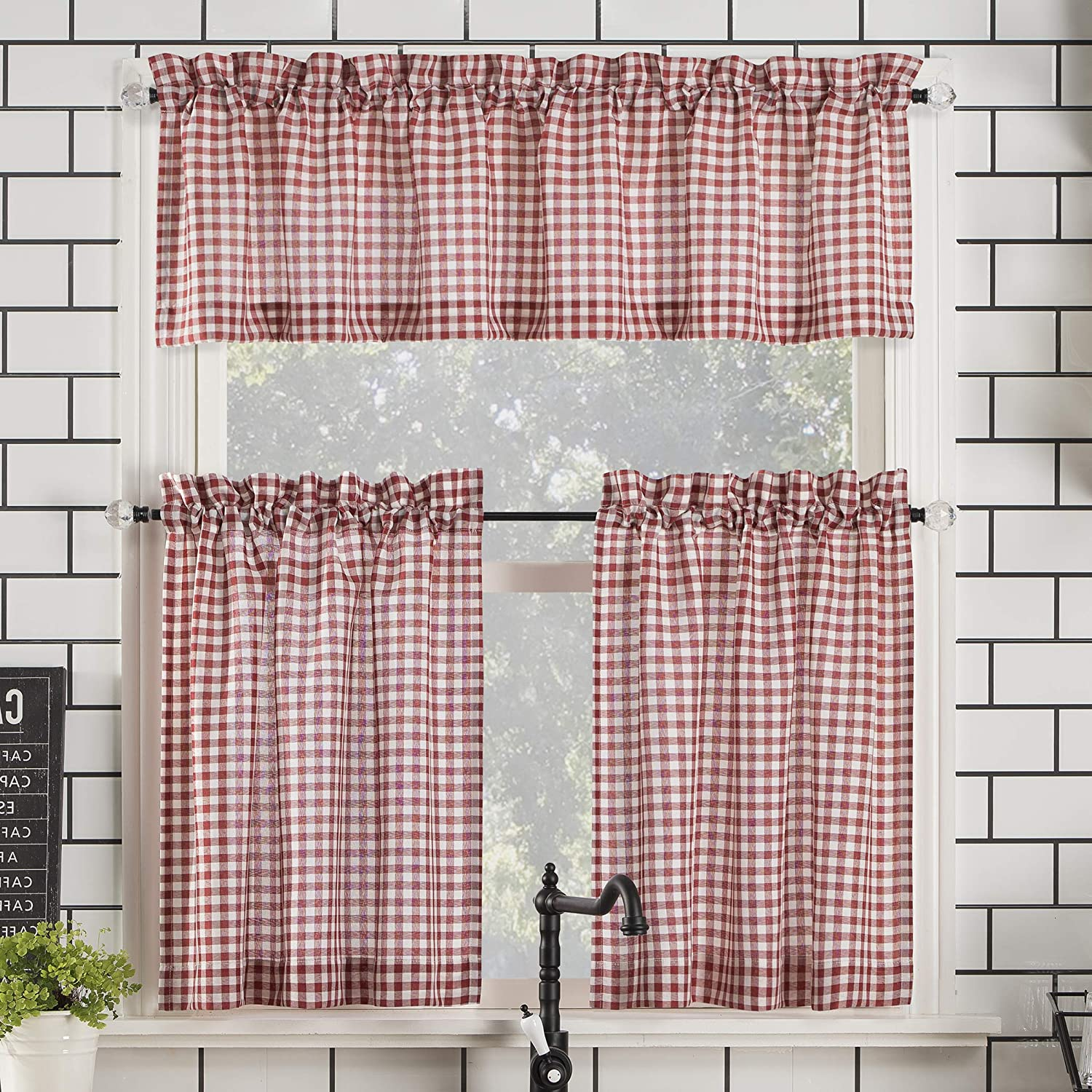 Rod pocket kitchen curtain
