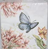 Lenox Butterfly Meadow Pink 40 Beverage Cocktail Paper Napkins
