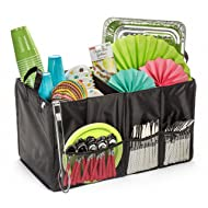 Storage Organizer By Deneve - Foldable Reusable Grocery Cube Bag with Handles - Household Picnic Basket Car Trunk Organizer - Multi-use Sports Tote
