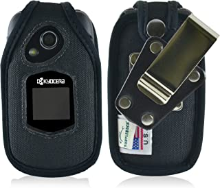 product image for Turtleback Fitted Case Made for Kyocera DuraXTP E4281 Flip Phone Black Nylon Heavy Duty Rotating Removable Metal Belt Clip Made in USA