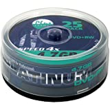 Platinum 4,7 GB DVD+RW-Rohlinge (4x Speed, 120 Min, DVD rewritable) 25er Spindel