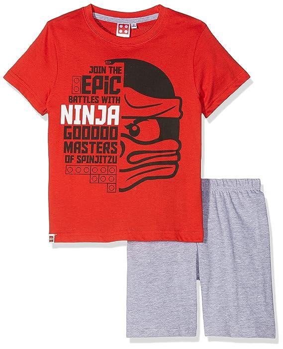 Lego Ninjago Chicos Pijama Mangas Cortas - Rojo: Amazon.es ...