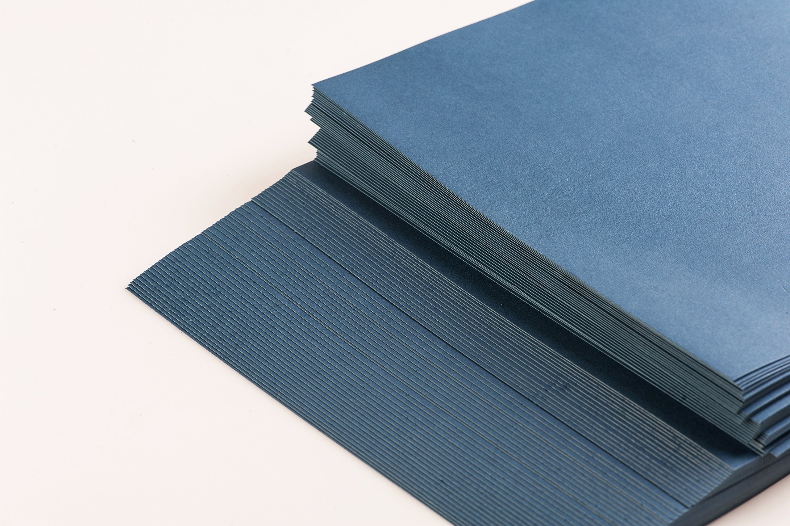 BNC Letter Size Linen Texture Presentation Covers Navy Blue Pack of 100 by BNC Office Supply (Image #5)