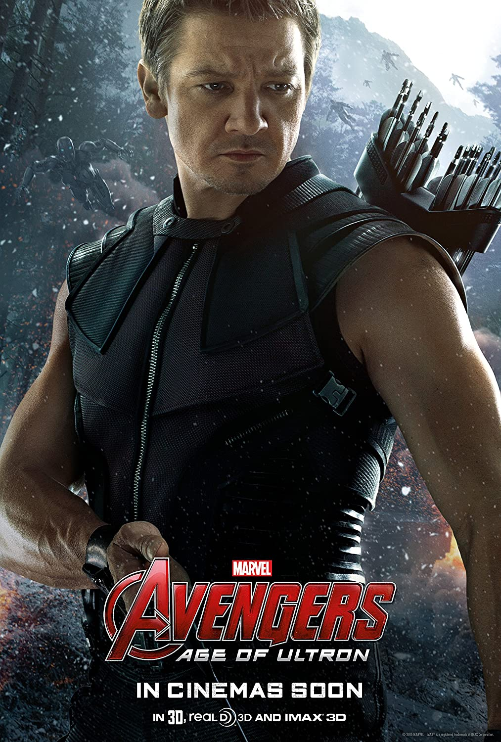Avengers: Age of Ultron, HAWKEYE (2015) Movie Poster 24x36 , Glossy Finish (Thick): Iron Man, Black Widow, Thor, Captain America