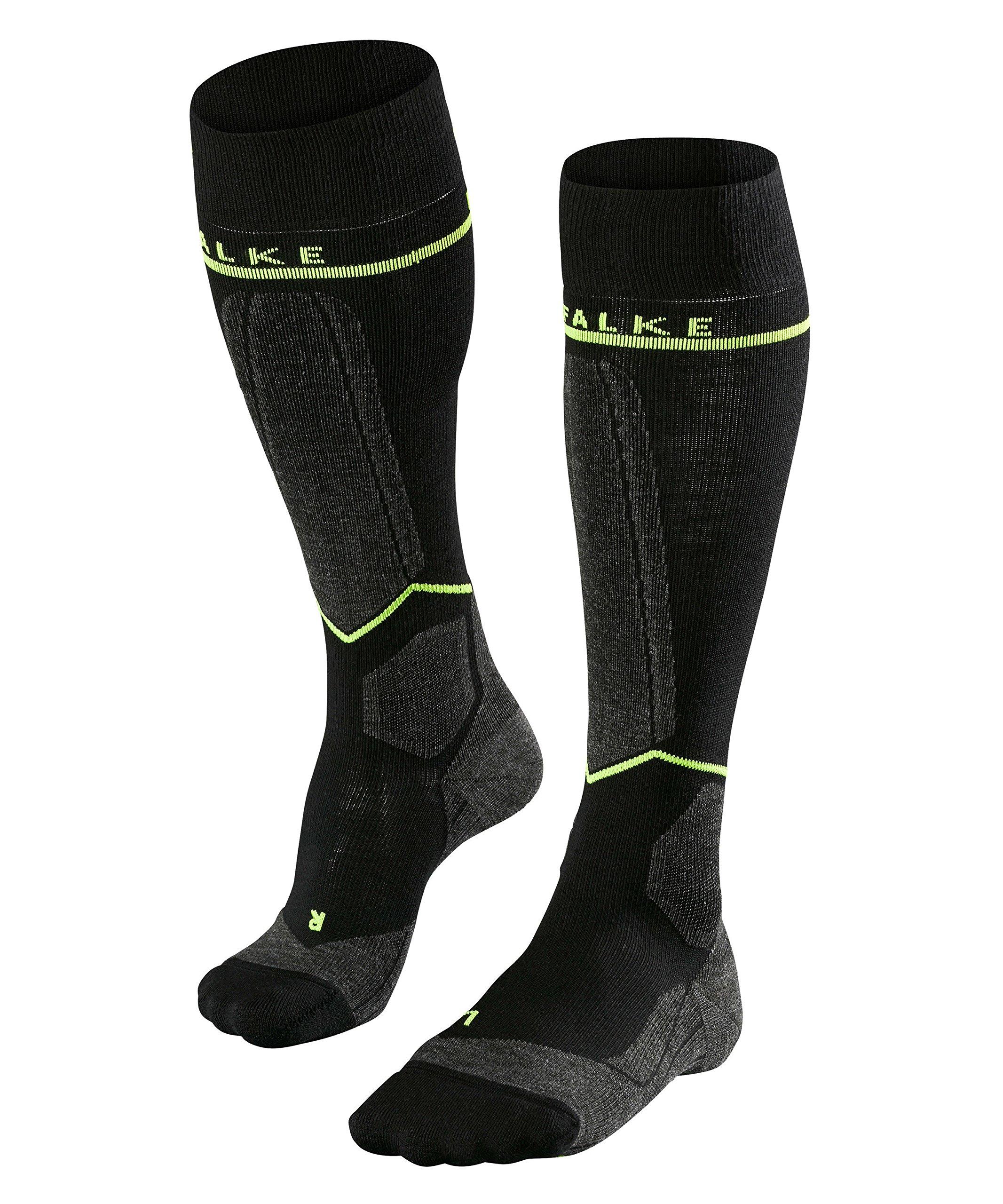 Falke Men's SK Energizing-Compression Ski Sock-32% Wool, black lightning, 39-42 W3 by FALKE