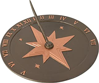 """product image for Montague Metal Products Roman Sundial, 10.5"""", Antique Copper"""