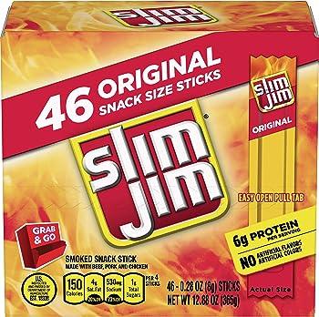 46-Count Slim Jim 0.28 oz Smoked Snack Stick Pantry Pack