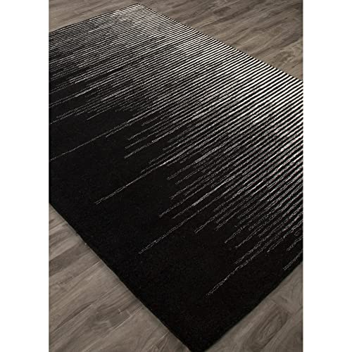 Jaipur Living Tabo Hand-Tufted Abstract Black Area Rug 9 X 12