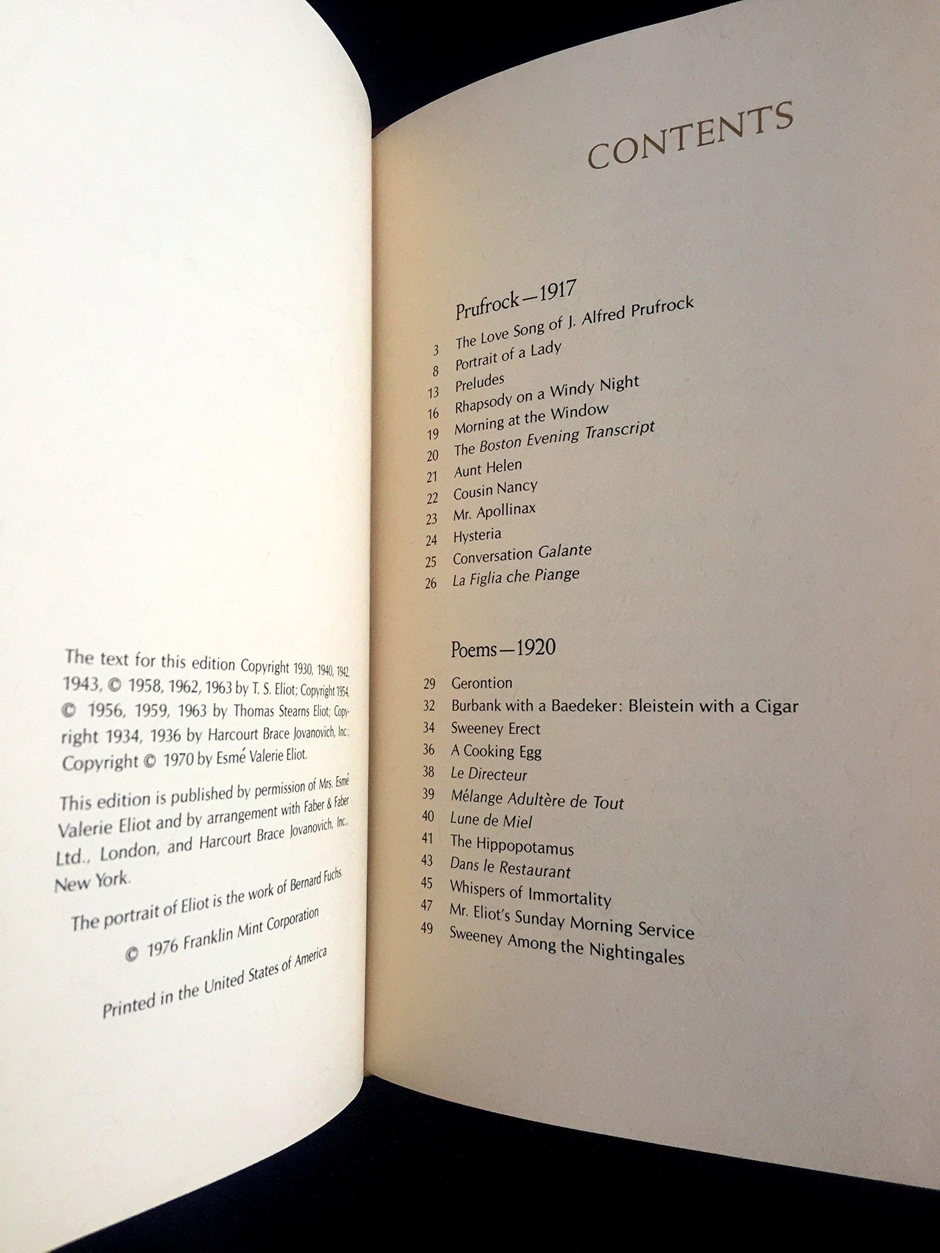 eliot poems 1920