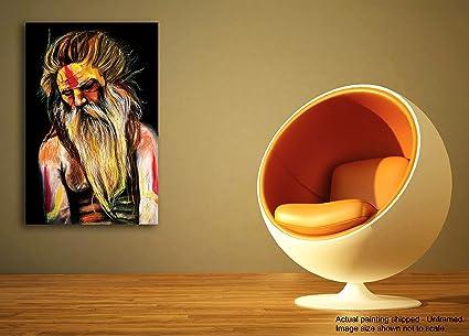Tamatina Shiva tela pittura - Devarshih Shiva è un Eremita - arredo ...