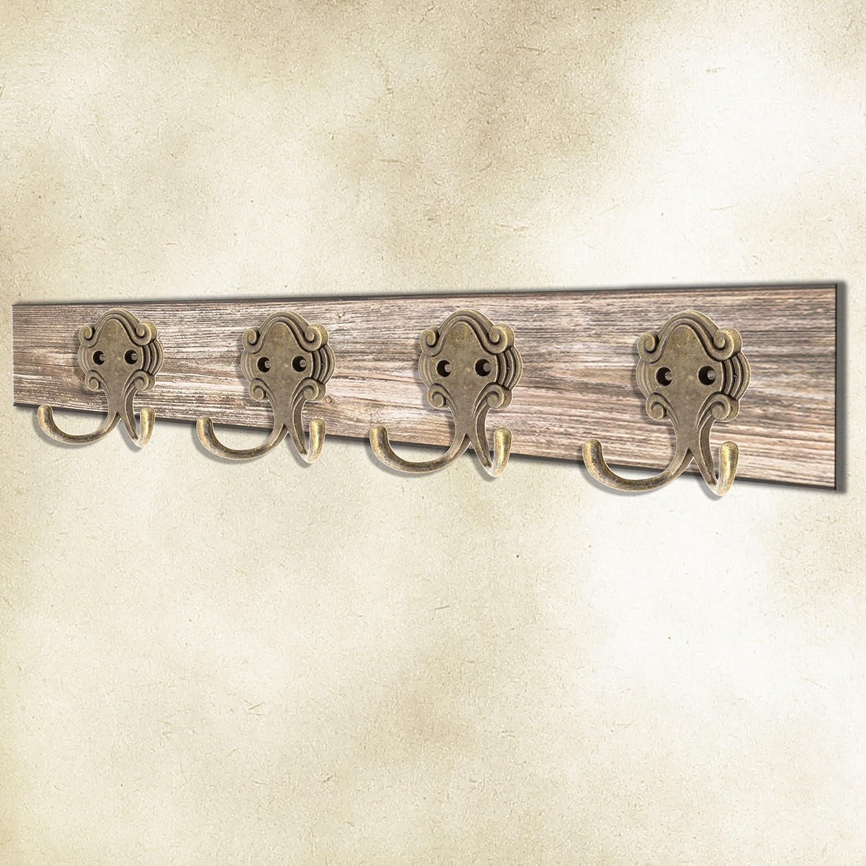 Antik Doppel-Haken FUXXER/® Guss-Eisen Messing Bronze Design 6er Set Handtuch-Haken Kleider-Haken Garderoben-Haken Vintage Landhaus Retro