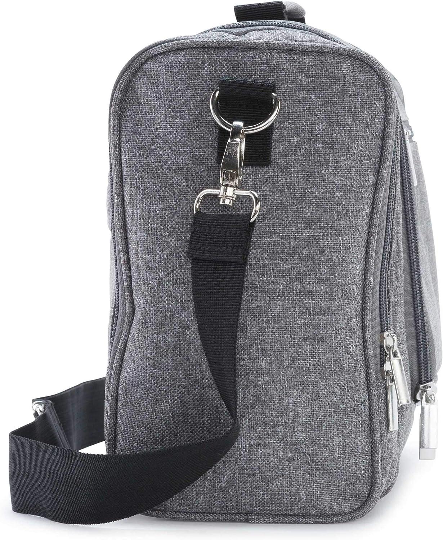 Neceser Multibolsillos con Separador Interior Troussette de Travel Earth/® Gris